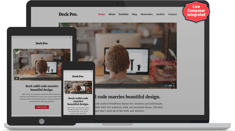 <h1>Premium Multipurpose Wordpress Theme</h1>